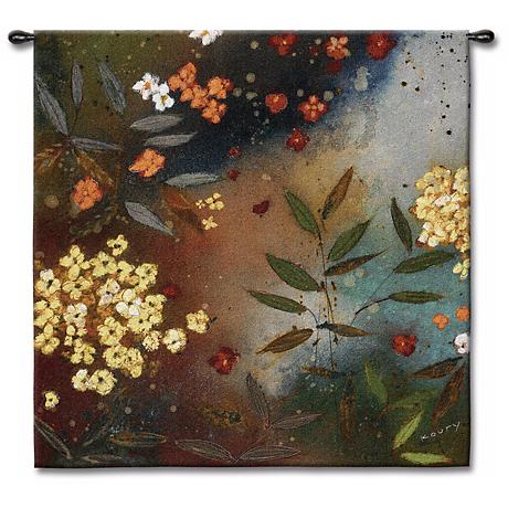 """Floating Garden 54"""" High Wall Tapestry"""