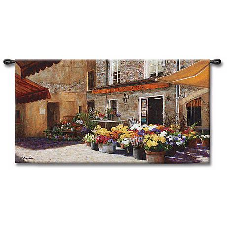 "The Flower Shop 53"" Wide Wall Tapestry"