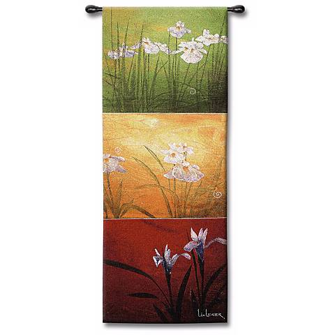 "Florals in Three II 53"" High Wall Art"