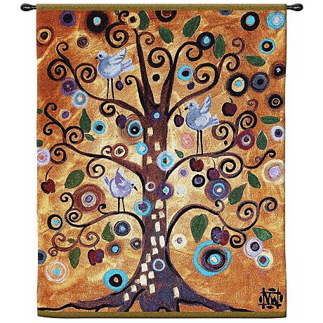 """Tree of Life 53"""" High Wall Hanging Tapestry"""