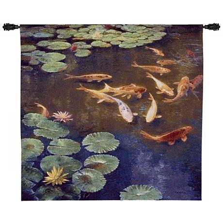 """Inclinations Large 52"""" Wide Wall Hanging Tapestry"""