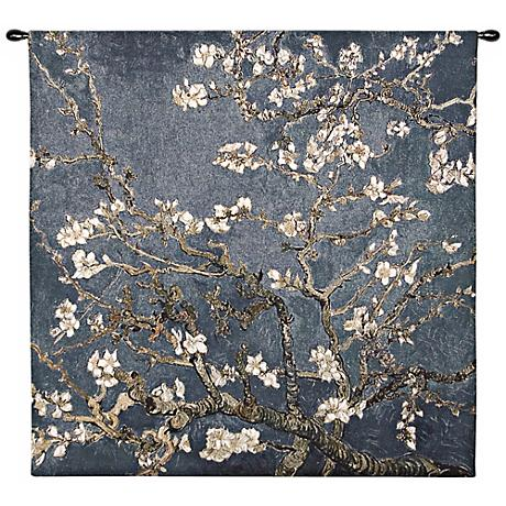 "Almond Blossom 35"" Square Wall Hanging Tapestry"
