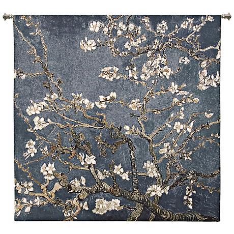 "Almond Blossom Large 52"" Square  Wall Hanging Tapestry"