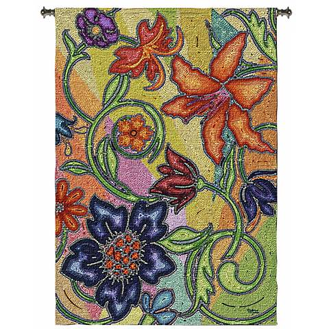 "Garden Party Mosaic 72"" High Wall Hanging Tapestry"