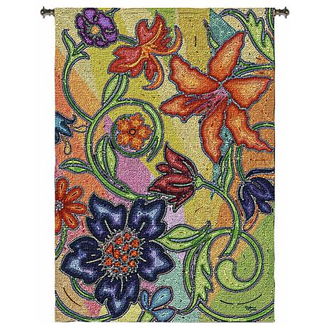 """Garden Party Mosaic 72"""" High Wall Hanging Tapestry"""