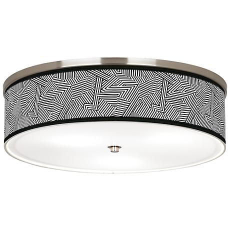 """Labyrinth Giclee Nickel 20 1/4"""" Wide Ceiling Light"""