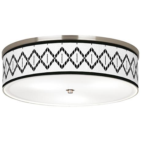 "Paved Desert Giclee Nickel 20 1/4"" Wide Ceiling Light"