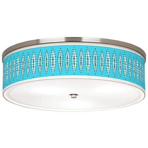 "Vibraphonic Bounce Giclee Nickel 20 1/4"" Wide Ceiling Light"