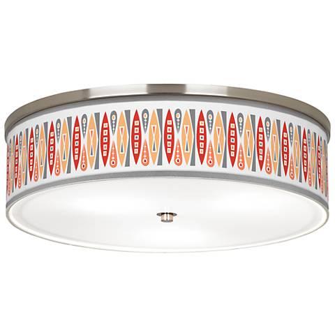 """Vernaculis VI Giclee Nickel 20 1/4"""" Wide Ceiling Light"""