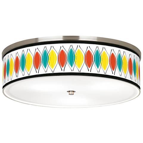 "Harmonium Giclee Nickel 20 1/4"" Wide Ceiling Light"