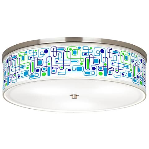 "Racktrack Giclee Nickel 20 1/4"" Wide Ceiling Light"