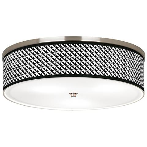 "Waves Giclee Nickel 20 1/4"" Wide Ceiling Light"