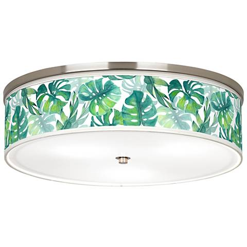 "Tropica Giclee Nickel 20 1/4"" Wide Ceiling Light"