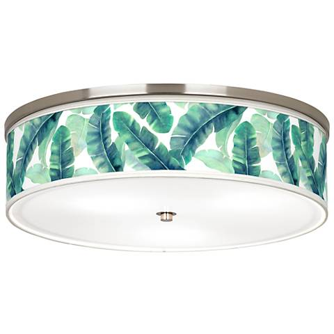 "Guinea Giclee Nickel 20 1/4"" Wide Ceiling Light"