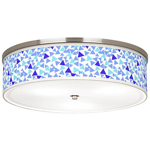 "Geo Confetti Giclee Nickel 20 1/4"" Wide Ceiling Light"