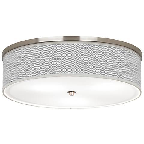 "Diamonds Giclee Nickel 20 1/4"" Wide Ceiling Light"