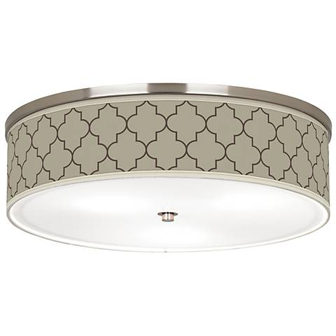 "Tangier Taupe Giclee Nickel 20 1/4"" Wide Ceiling Light"