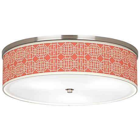"Mandarin Giclee Nickel 20 1/4"" Wide Ceiling Light"
