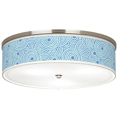 "Circle Daze Giclee Nickel 20 1/4"" Wide Ceiling Light"