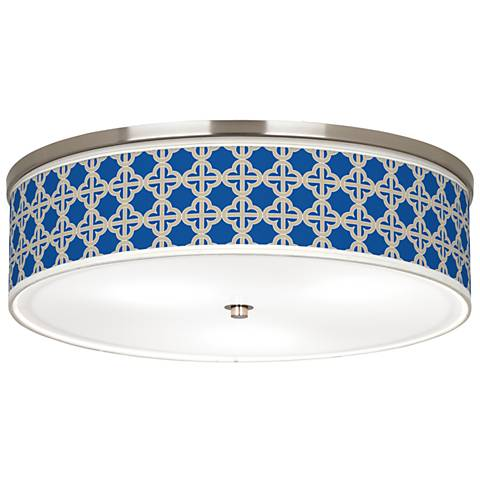 "Four Corners Giclee Nickel 20 1/4"" Wide Ceiling Light"