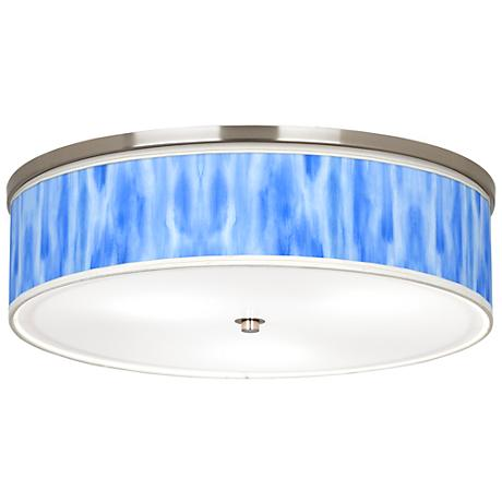 "Blue Tide Giclee Nickel 20 1/4"" Wide Ceiling Light"