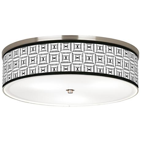 """Tile Illusion Giclee Nickel 20 1/4"""" Wide Ceiling Light"""