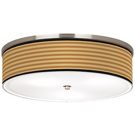 "Butterscotch Parallels Nickel 20 1/4"" Wide Ceiling Light"