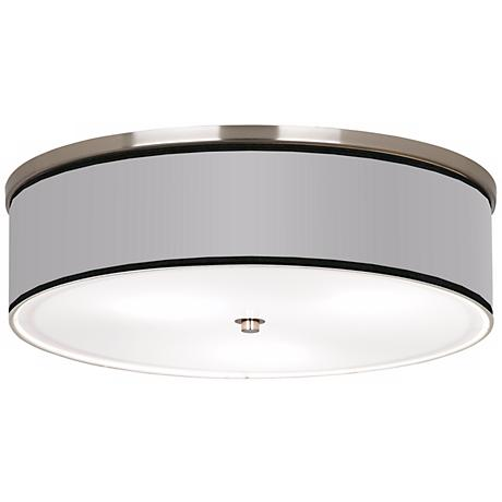 """All Silver Nickel 20 1/4"""" Wide Ceiling Light"""