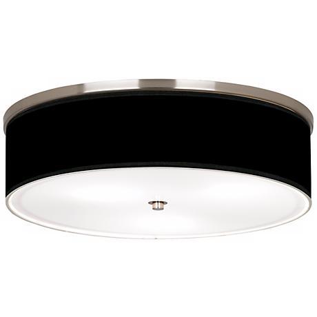 "All Black Nickel 20 1/4"" Wide Ceiling Light"