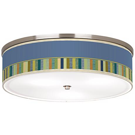 "Stacy Garcia Modern Palette Nickel 20 1/4"" Ceiling Light"