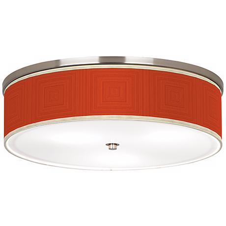 """Stacy Garcia Crackled Square Coral 20 1/4"""" Ceiling Light"""