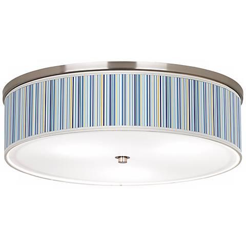 "Stacy Garcia Cabana Stripe Nickel 20 1/4"" Wide Ceiling Light"
