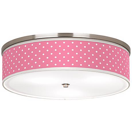 "Mini Dots Pink Nickel 20 1/4"" Wide Ceiling Light"