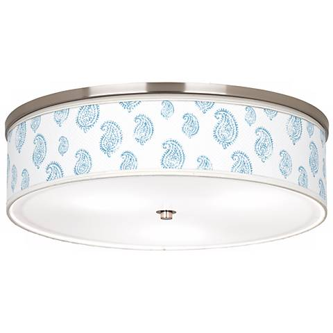 Paisley Snow Nickel Giclee Finish Energy Efficient Ceiling Light