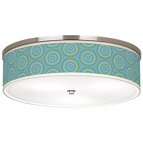 "Blue Calliope Linen Giclee 20 1/4"" Wide Ceiling Light"