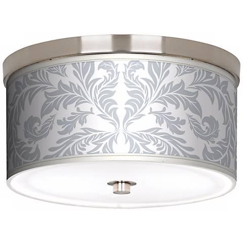 "Silver Baroque Nickel 10 1/4"" Wide Ceiling Light"