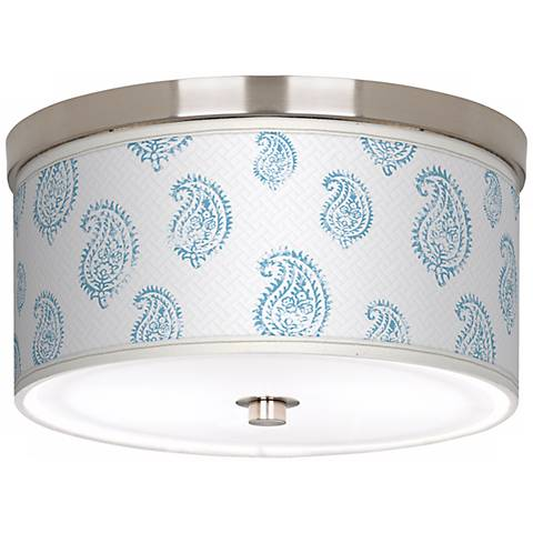 Paisley Snow Giclee Nickel Energy Efficient Ceiling Light