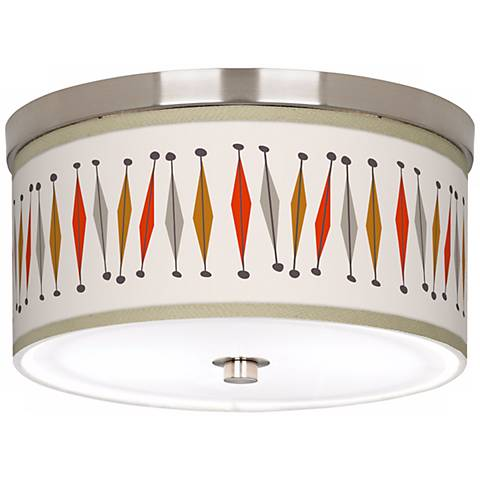 "Tremble 10 1/4"" Wide Brushed Nickel Ceiling Light"