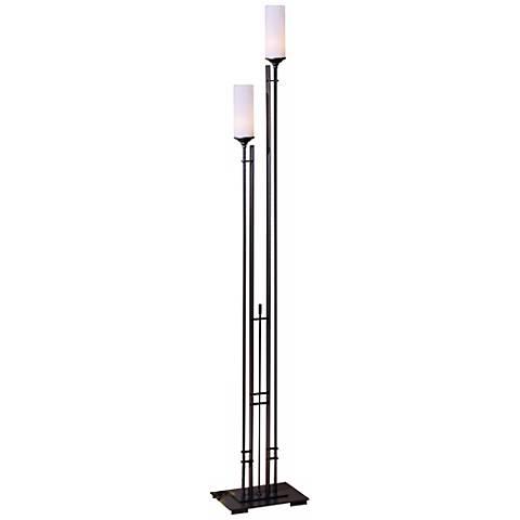 "Hubbardton Forge MetraTwin 74 3/4"" High Floor Lamp"