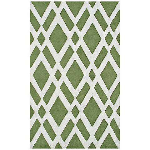 Diamante Green Handmade Indoor-Outdoor Rug