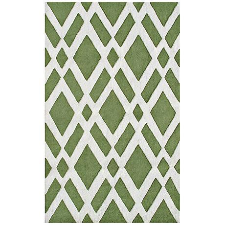 Diamante Green Handmade Indoor-Outdoor Rug