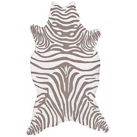 Grey Zebra Indoor-Outdoor Rug