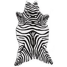 Black Zebra Indoor Outdoor Rug