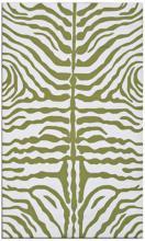Zebra Stripe 5'x8' Green Indoor Outdoor Rug