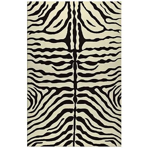 Zebra Stripe Brown Indoor Outdoor Rug K0190 Lamps Plus