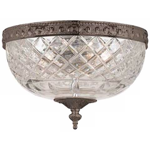 "Crystorama Majestic English Bronze 10"" Wide Ceiling Light"