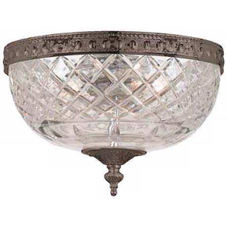 "Crystorama Majestic English Bronze 10"" Wide Ceiling Light"