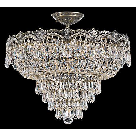 "Crystorama Majestic Brass 21 1/2""W Semiflush Ceiling Light"