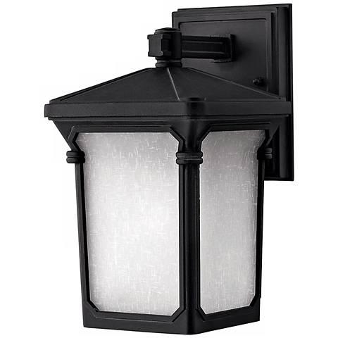 """Hinkley Stratford Black 10 3/4"""" High Outdoor Wall Light"""