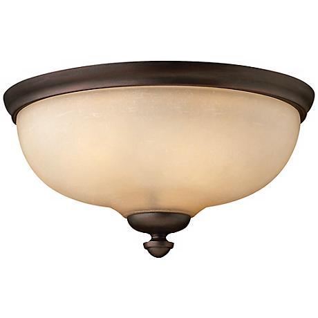 """Thistledown 15 1/4"""" Wide Indoor - Outdoor Ceiling Light"""